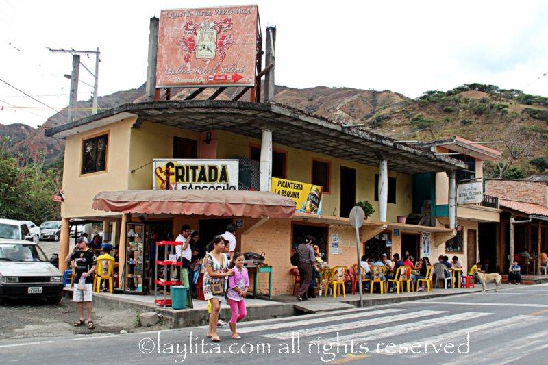 Fritada restaurant in Landangui Loja