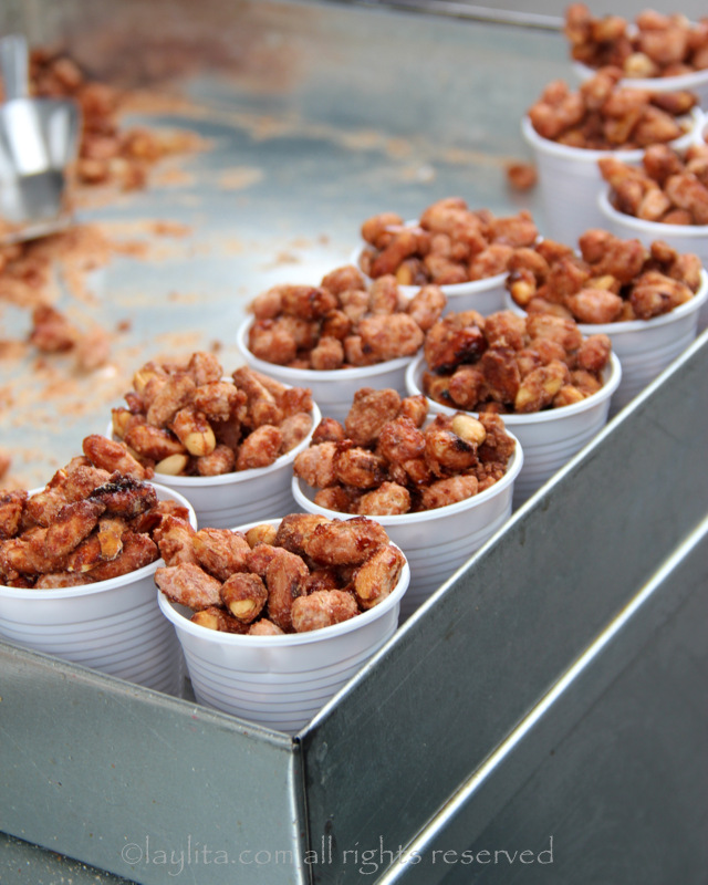 Candied or caramelized peanuts in London