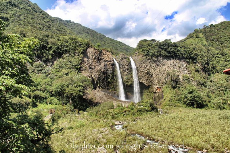 Manto de la Novia waterfall in Baños