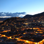 Night view of Quito from Itchimbia