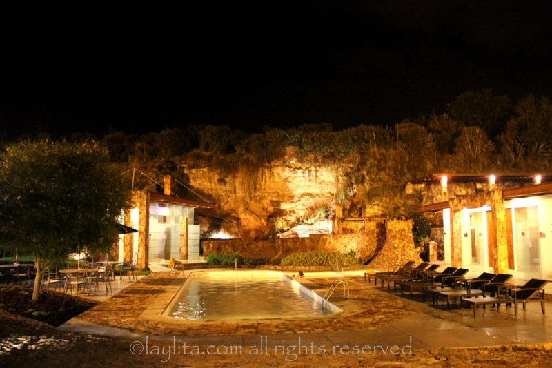 Piedra de Agua spa at night