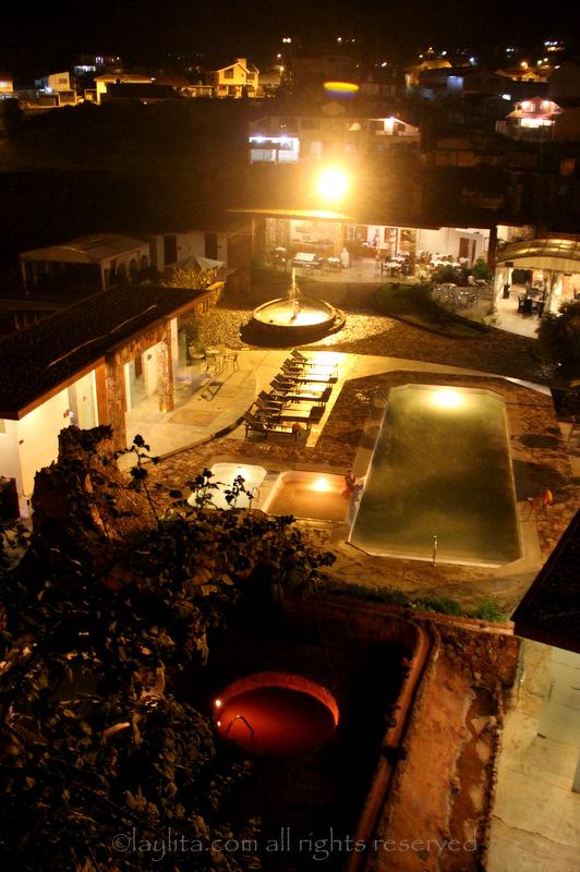 Piedra de Agua spa night view
