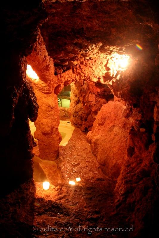 Underground thermal pool at Piedra de Agua