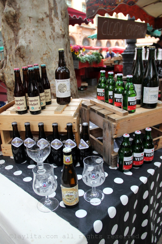 Beer at the market in Aix