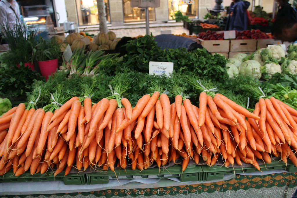 Carrots at the market in Aix en Provence