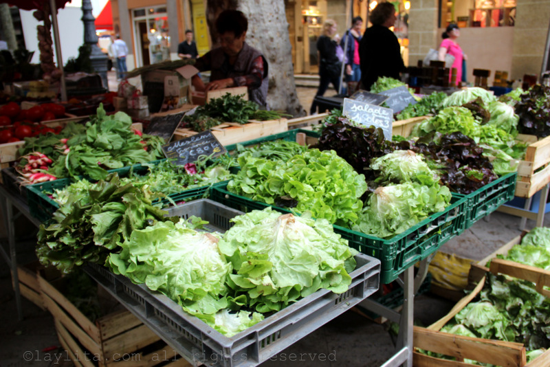 Lettuce and greens at the market