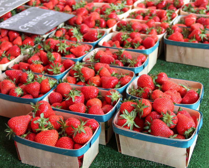 More strawberries at the market