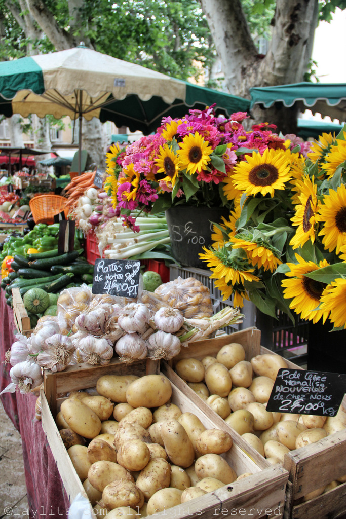 Produce at the market in downtown Aix en Provence