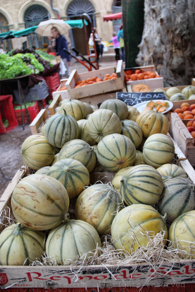 Sweet summer melons in Aix en Provence
