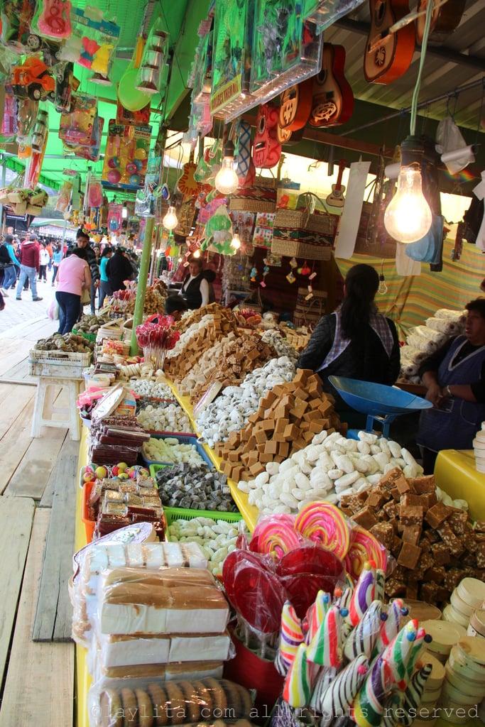 Dulces or sweets at a local fair in Ecuador