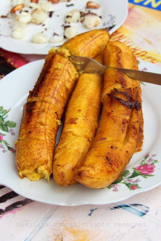 Ecuadorian fried ripe plantains
