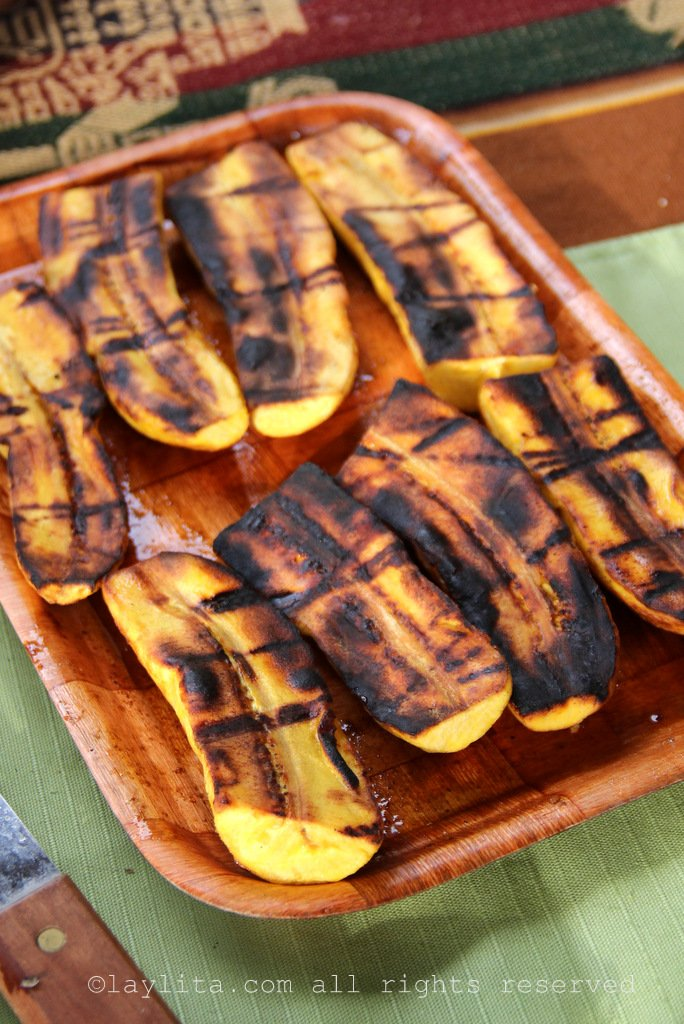 Ecuadorian street food - grilled plantains