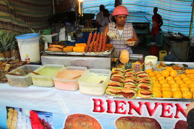 Ecuadorian street food stands