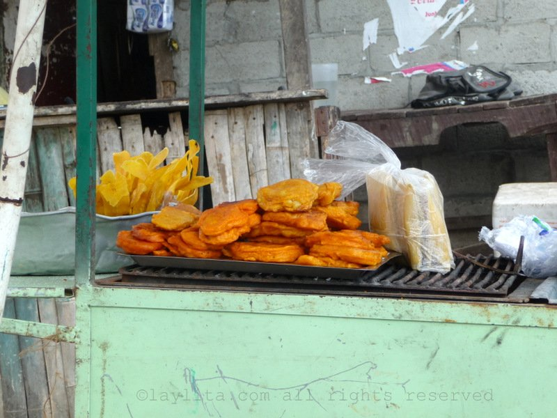Emborrajados or plantain and cheese fritters