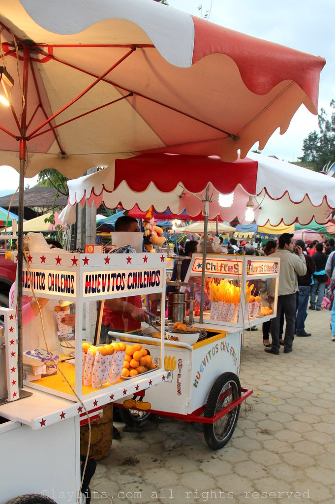 Food carts at the fair in Loja