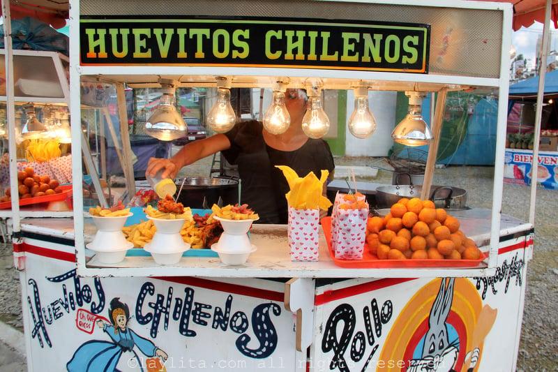 Street food at the fair in Ecuador