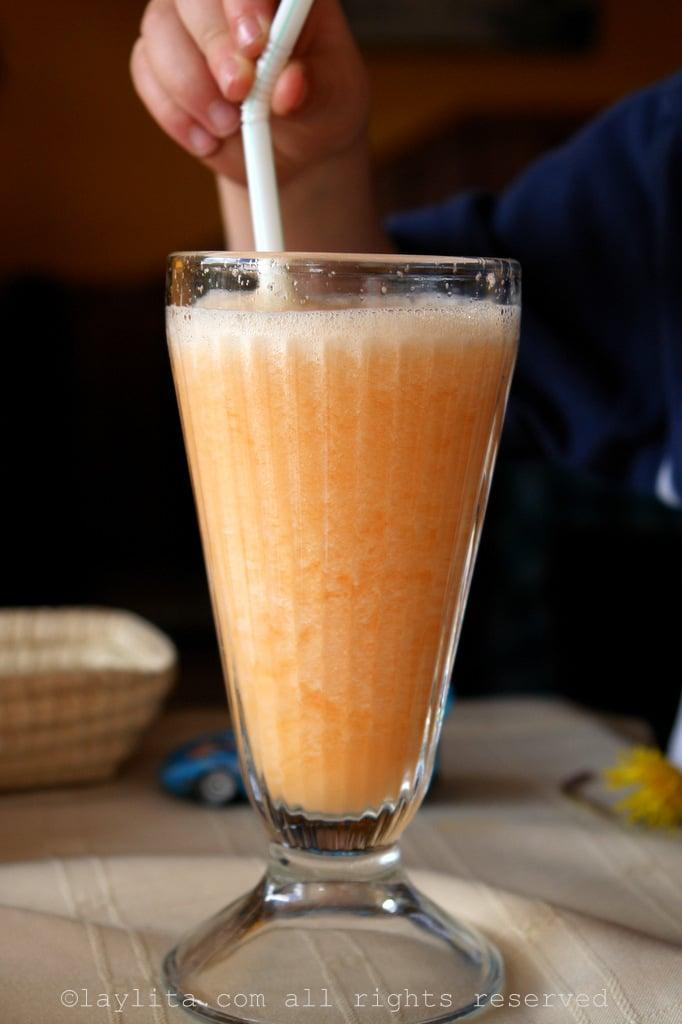 Tree tomato juice in Ecuador