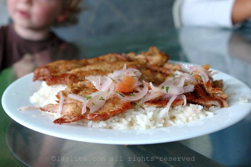 Cecina lojana pork dish