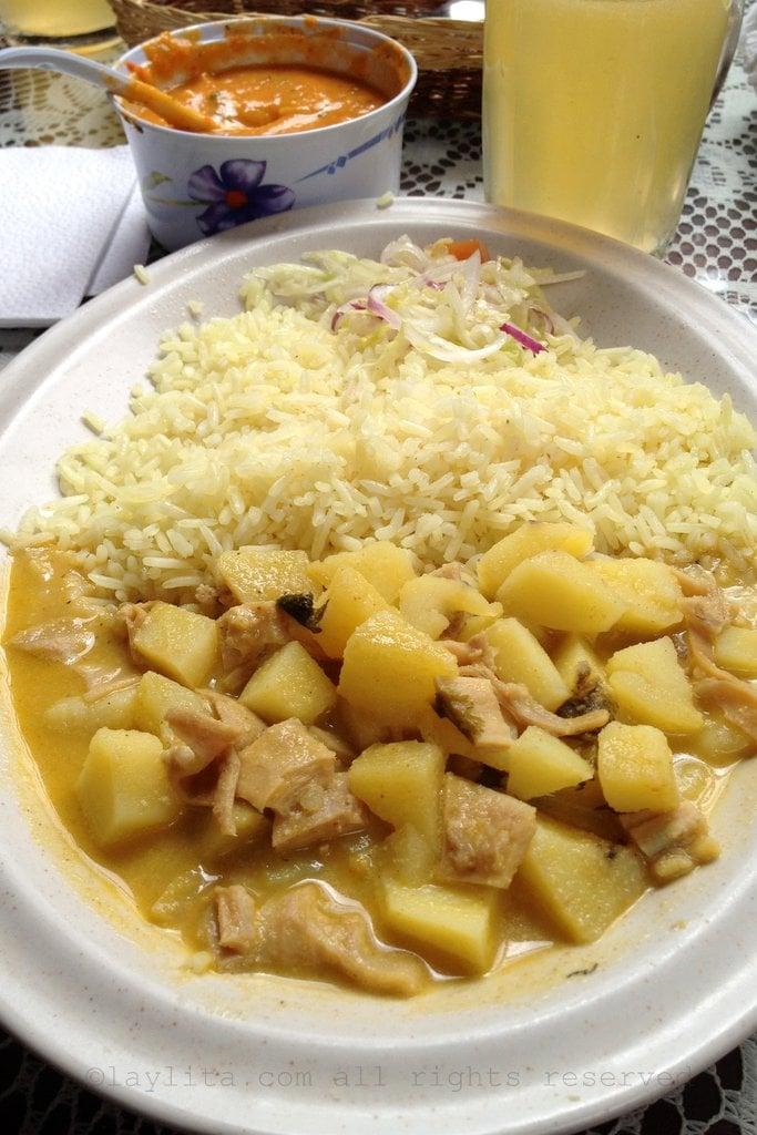Guatita or beef tripe stew