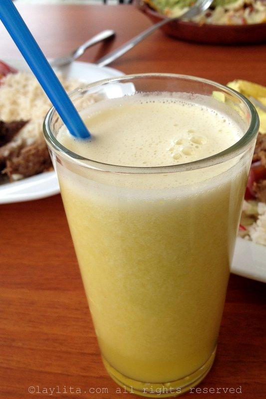 Jugo de naranjilla juice