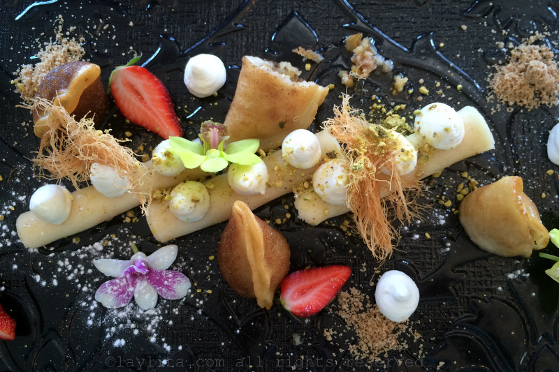 Beautiful desserts at Magdalena restaurant in Galilee