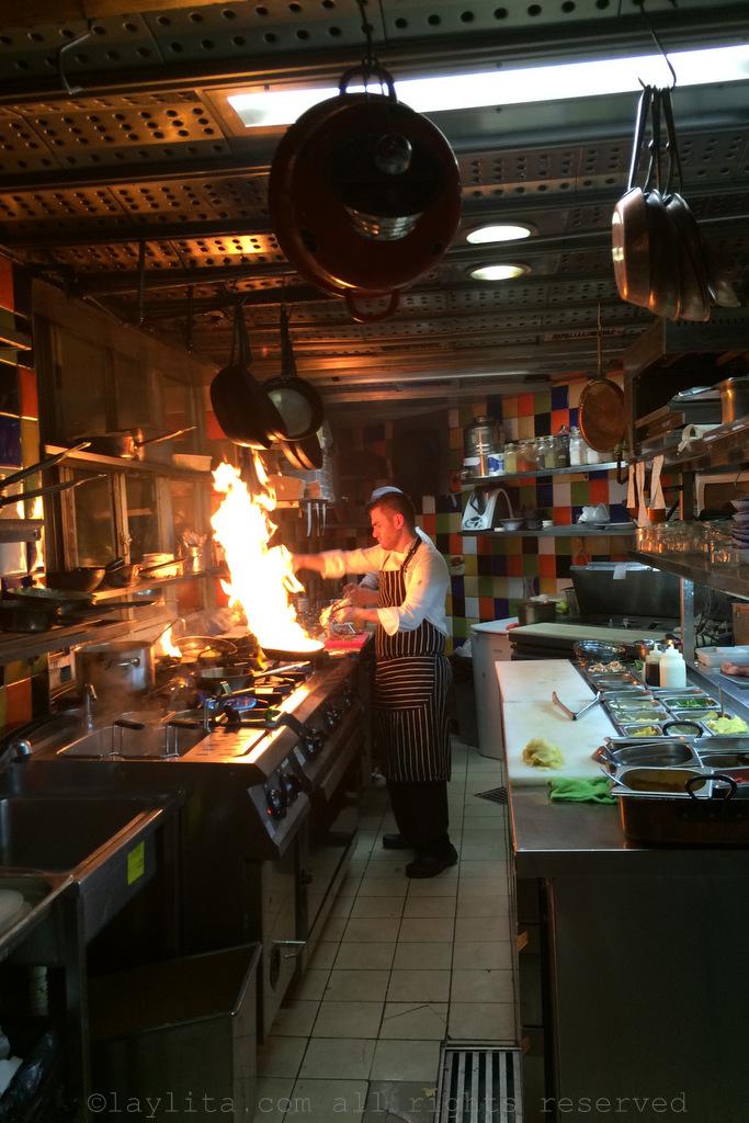 Chefs at work at Machneyuda restaurant in Jerusalem