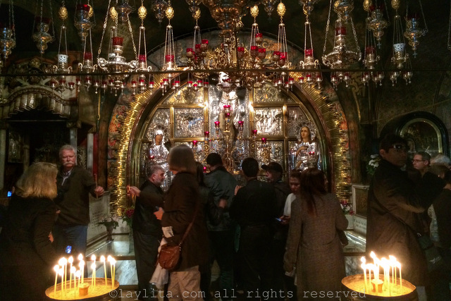 Inside the Church of the Holy Sepulchre in Jerusalem