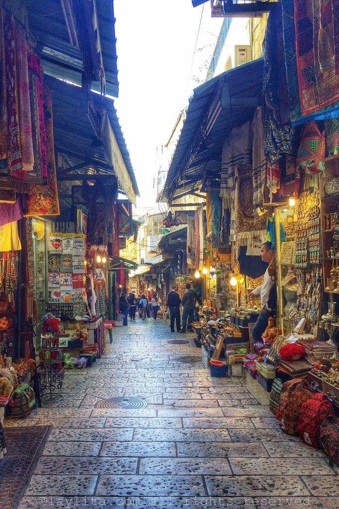 Shops in the Old City of Jerusalem