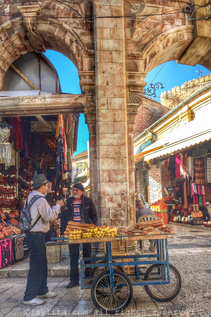 Street vendors in the Old City of Jerusalem