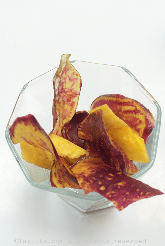 Sweet potato and plantain chips