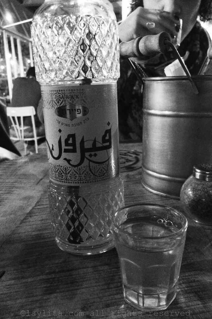 Trying arak for the first time in Jerusalem