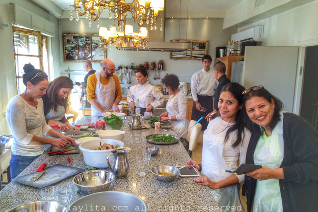 Workshop at Chef Tali Friedman's atelier in Jerusalem