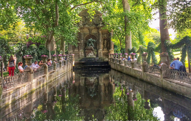 Medici Fountain at the Luxembourg Garden in Paris