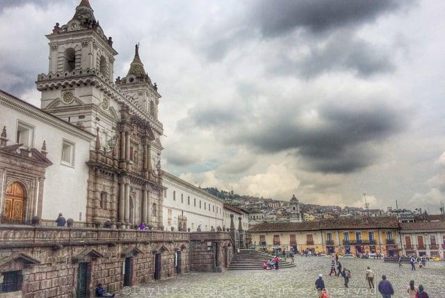 San Francisco Plaza in Quito Ecuador