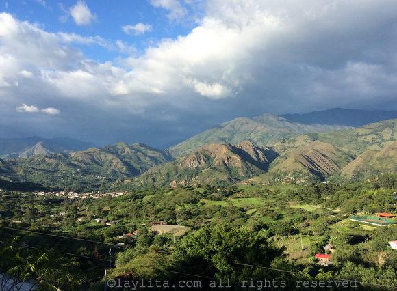 Vilcabamba valley view from Izhcayluma