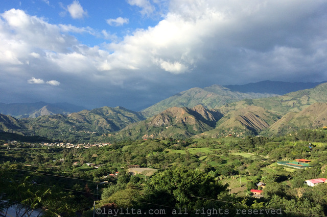 Vilcabamba valley view from Izhcayluma