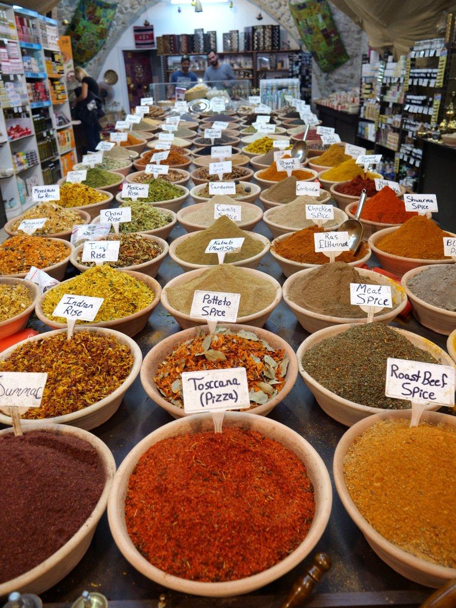 Endless spices in Old Jerusalem