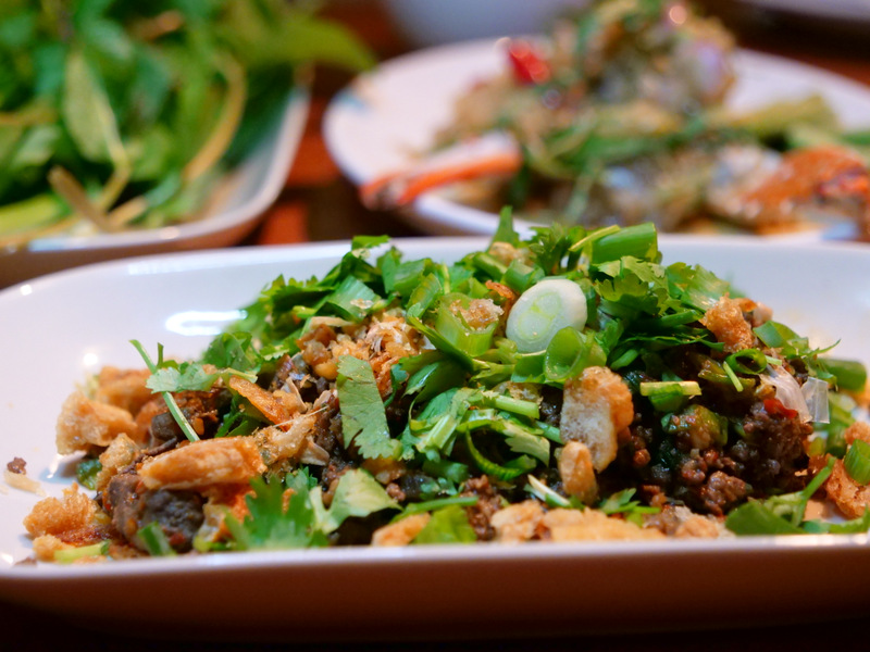 Laap Muu Khua from Chef Andy Ricker at the Israel Round Tables Festival