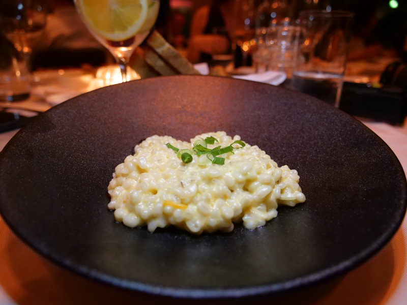 Pearl barley risotto with cheddar
