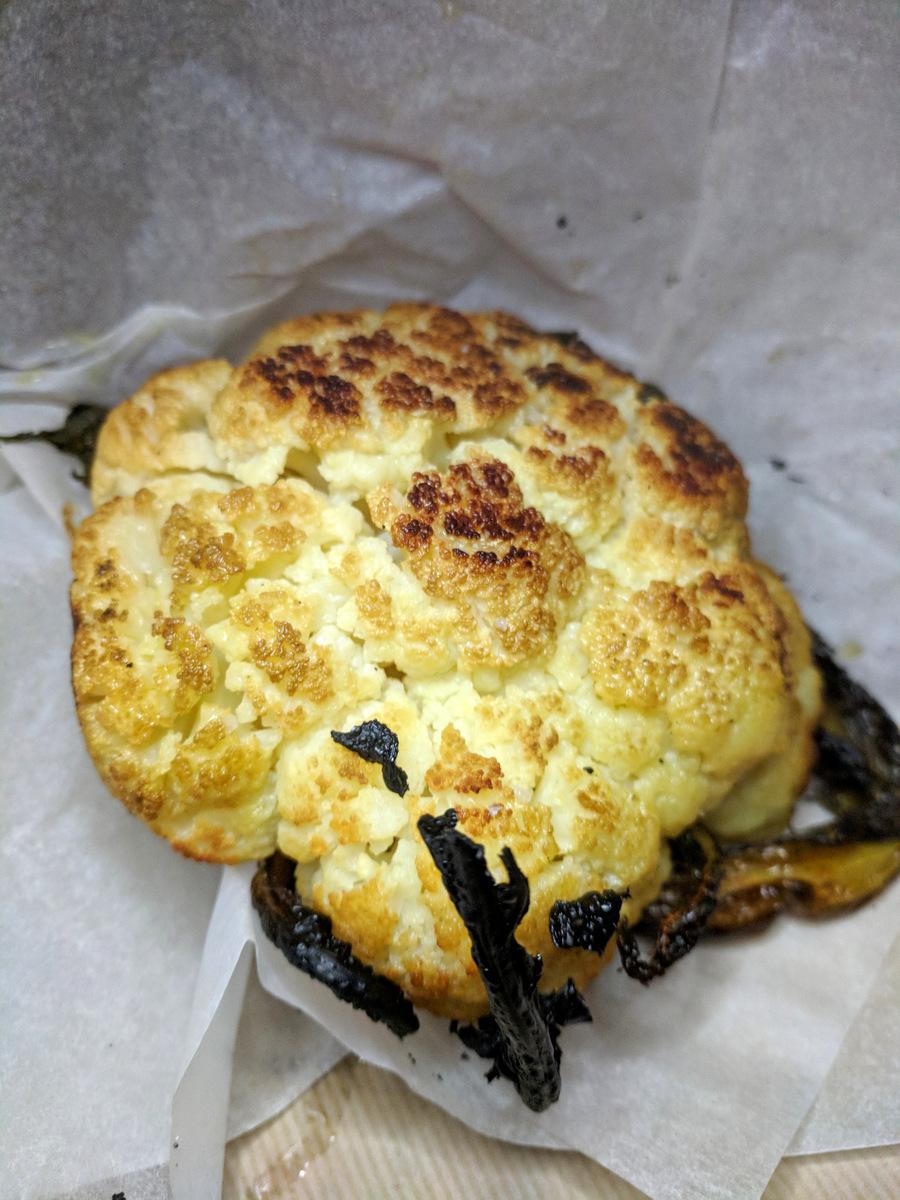 Roasted cauliflower at Romano Restaurant