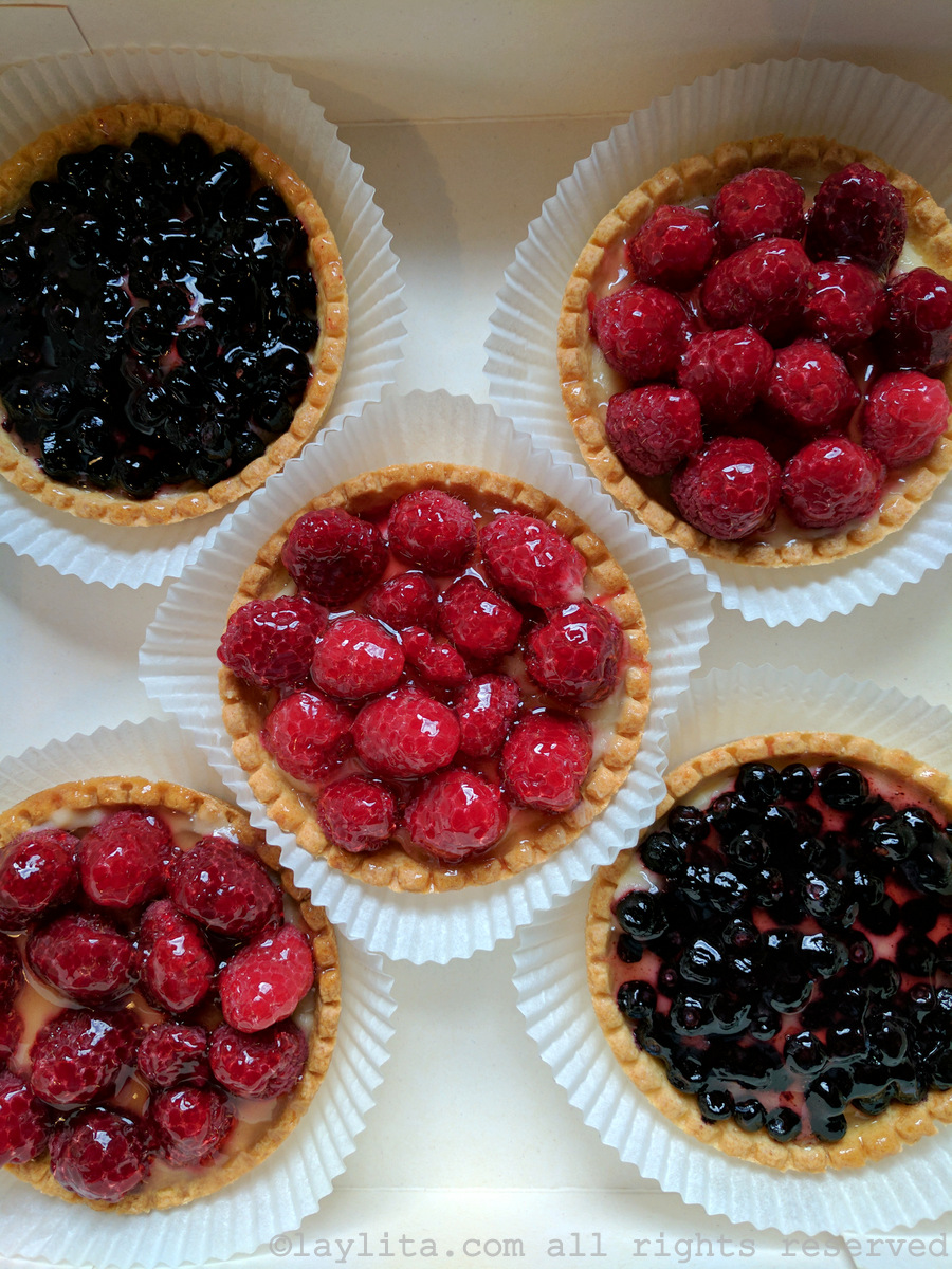 Berry tarts in the French Alps