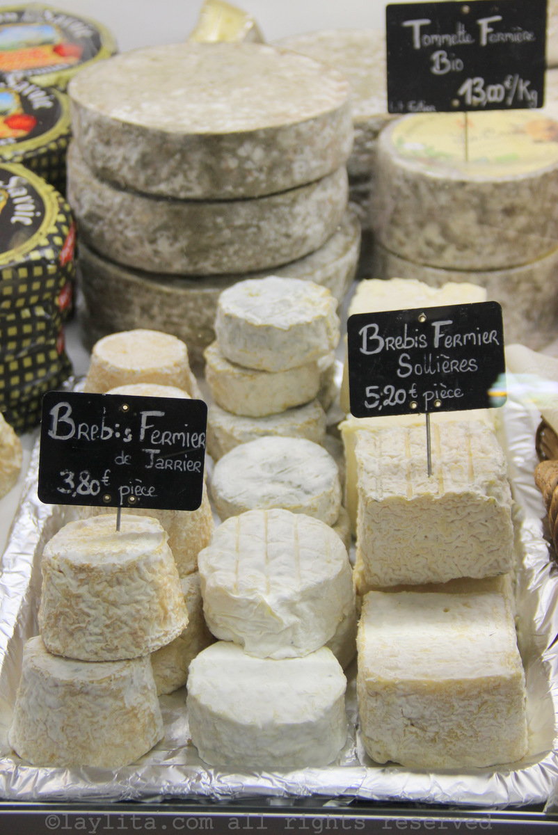 Brebis or sheep cheese in the Alps