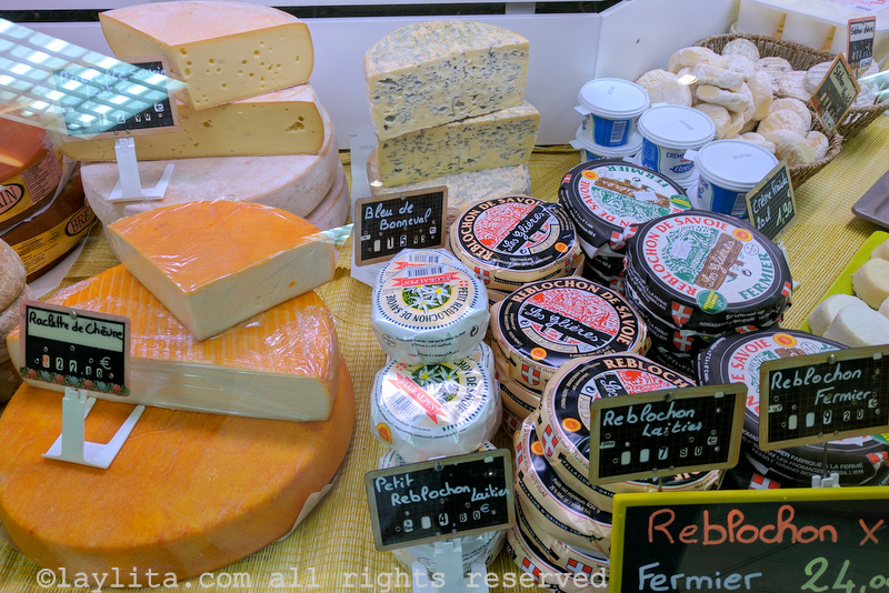 Cheeses in the French Alps