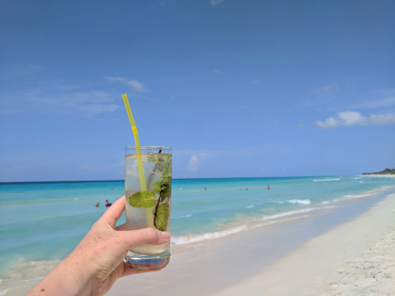 Mojito on the beach in Varadero Cuba