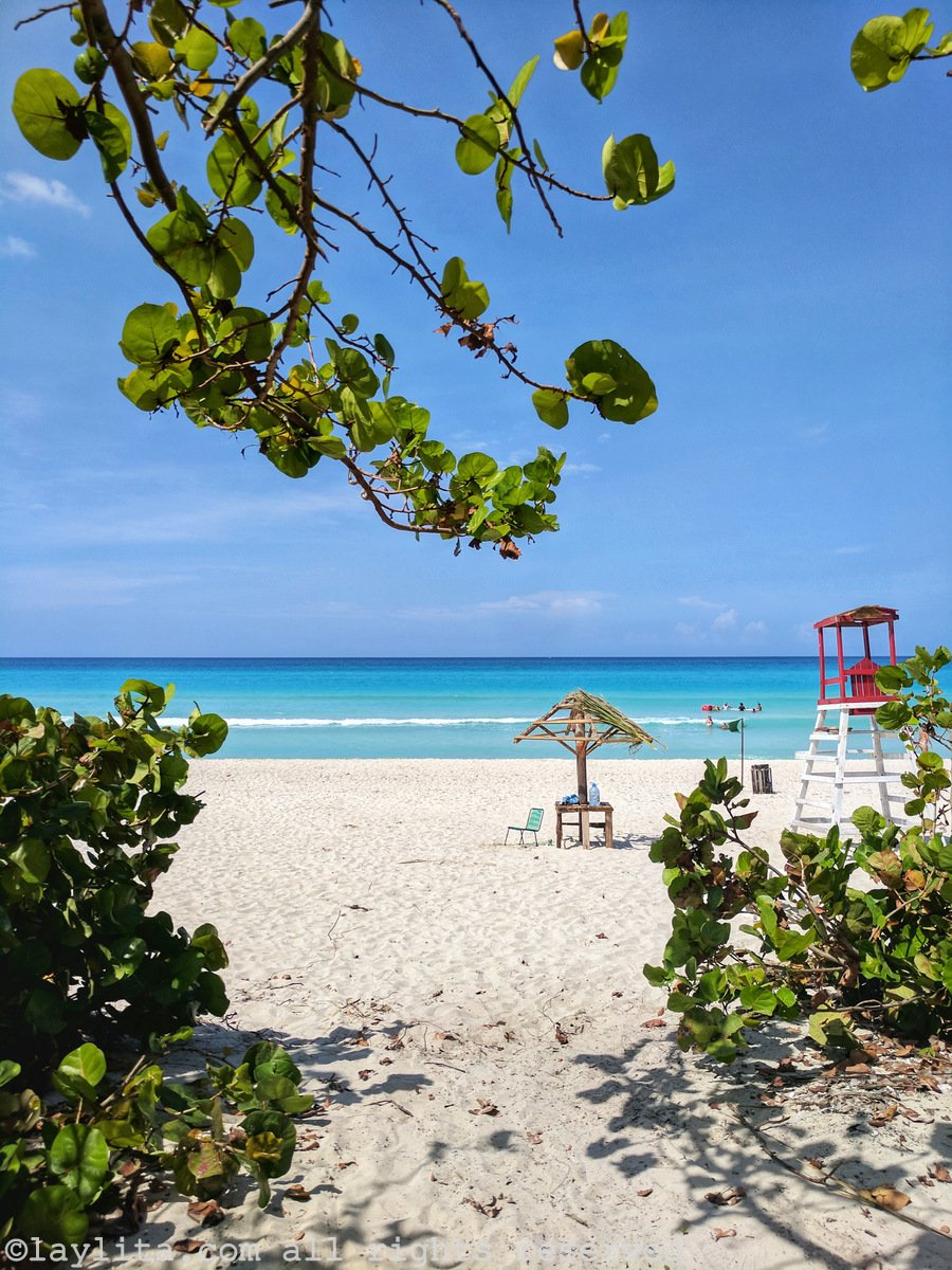Varadero beach view in Cuba