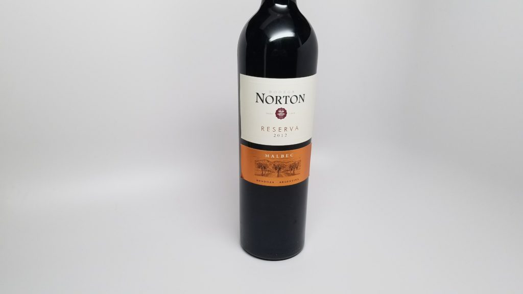 Red wine from the Argentina Mendoza region