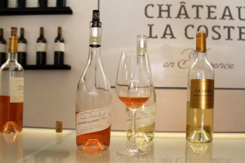 Rosé wine at Château La Coste