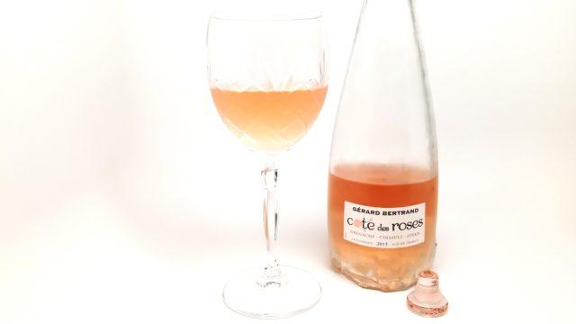 Rosé wine côte des roses
